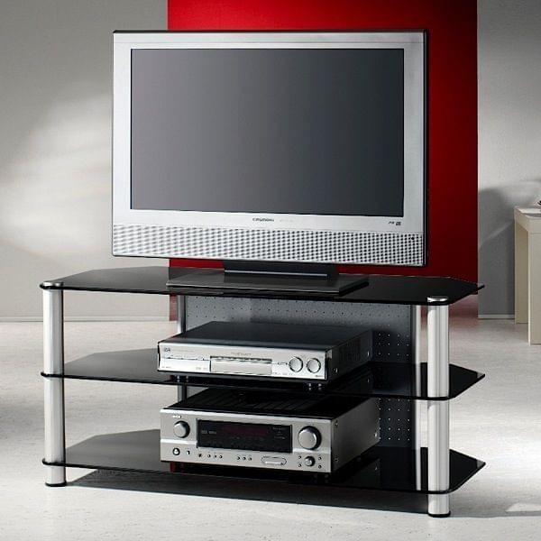 Meuble Tv Haut Verre : Meuble Tv Pour écrans Lcd – Plasma – Led, Aluminium Et Verre De
