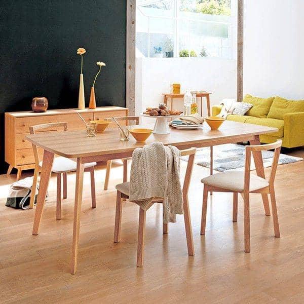 table kensay avec ou sans rallonges inspiration nordique de grande qualit placage ch ne. Black Bedroom Furniture Sets. Home Design Ideas