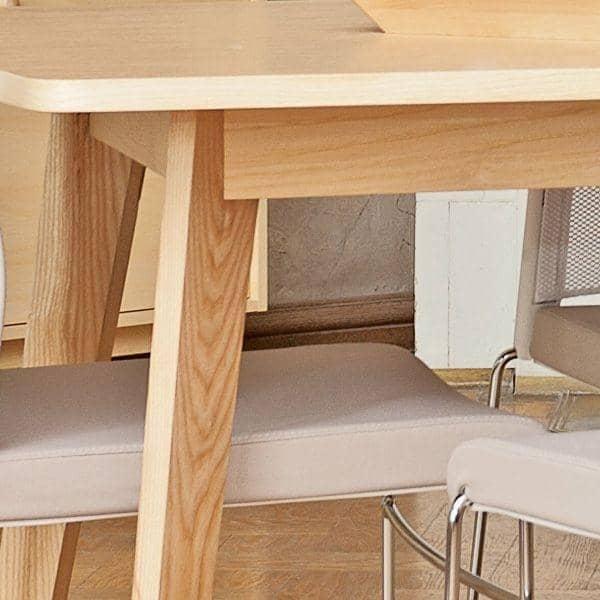 Kensay spisebord med eller uden udvidelser nordisk inspiration struktur i massiv eg et produkt af hoj kvalitet deco og design.jpg