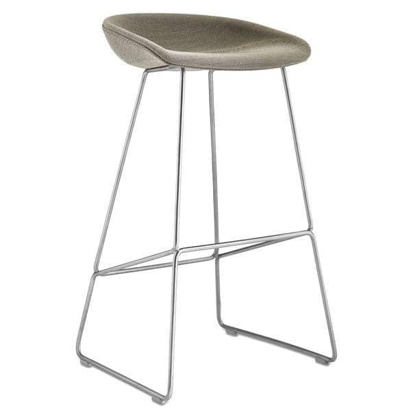 tabouret de bar about a stool aas39 acier et tissu hay. Black Bedroom Furniture Sets. Home Design Ideas
