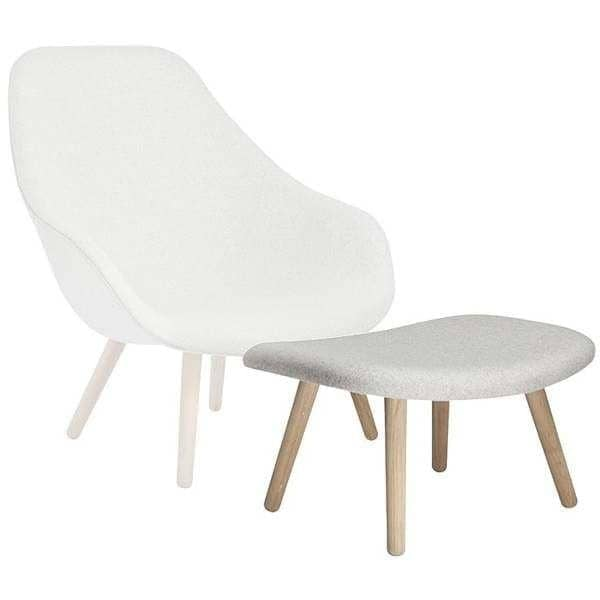 OTTOMAN fodstøtte for serien af lænestole ABOUT A LOUNGE CHAIR -. ref AAO03 - en bred vifte af farver, 3 finish til basen - HAY DESIGN
