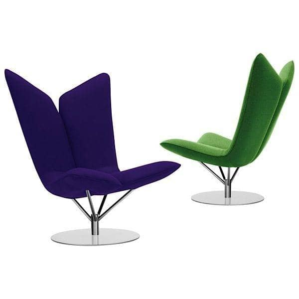 ANGEL, by Busk and Hertzog : iconic lounge chair, soft and inviting