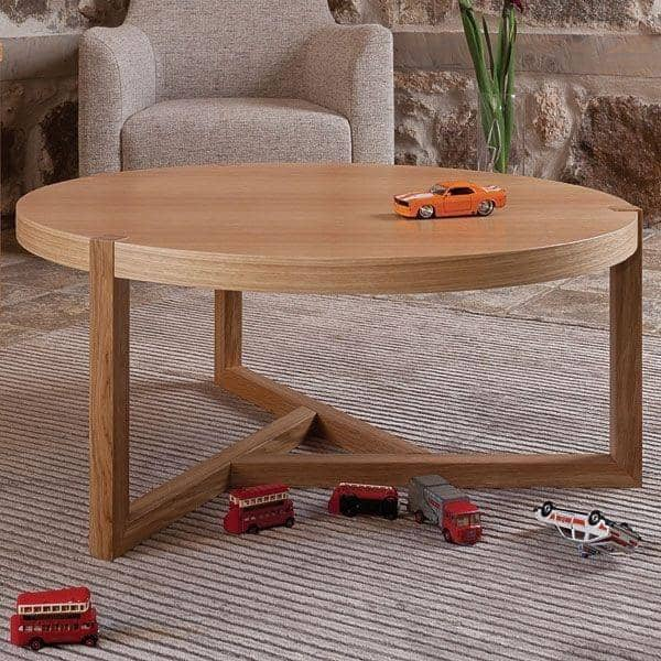 SCANDIWOOD Τραπέζι σαλονιού - γίνονται με ωραία μασίφ ξύλο βελανιδιάς και καπλαμά, σε ένα ζεστό περιβάλλον - οικολογικά, διακόσμηση και ο σχεδια