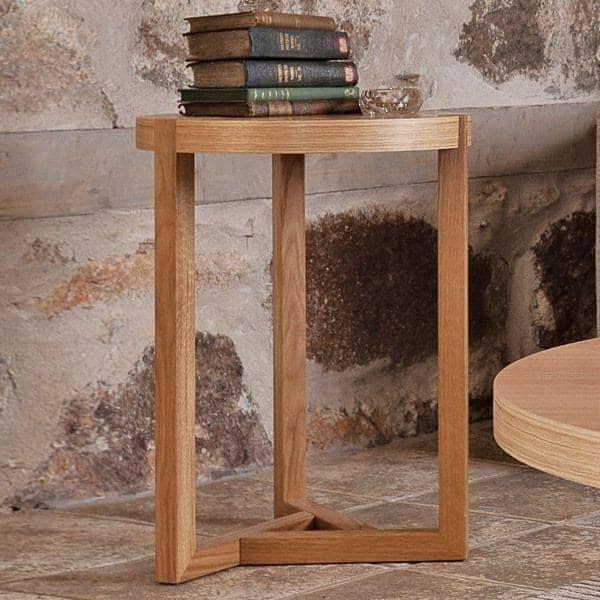 SCANDIWOOD mesa lateral - feito com bom carvalho maciço e laminado de madeira, um ambiente acolhedor - eco, deco e design