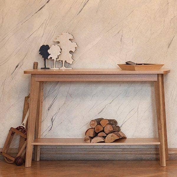 KENSAYオークコンソールテーブル-レオンハルト·ファイファーによって作成された-デコとデザイン