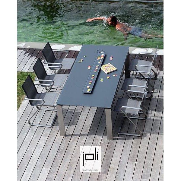 esstisch tablett in keramik edelstahl struktur f r innen oder. Black Bedroom Furniture Sets. Home Design Ideas