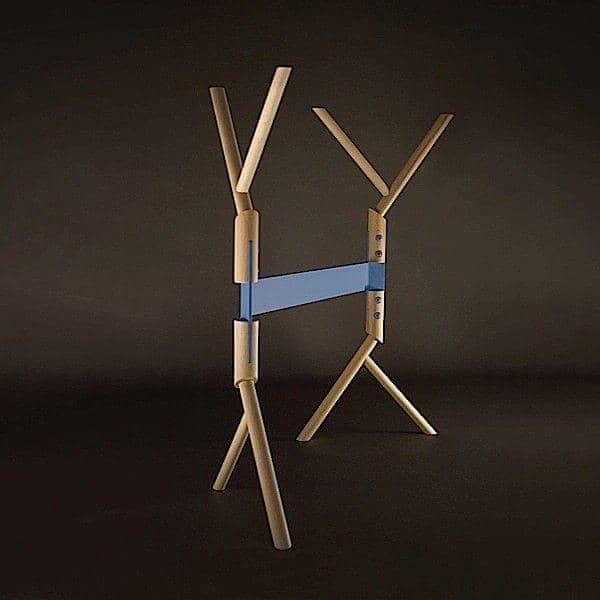 BRANCHE الحوامل المحرز في الزان يتأهل الصلبة والأزرق ومسحوق الطلاء. صممه AT ONCE - ديكو والتصميم، ROBBA EDITION