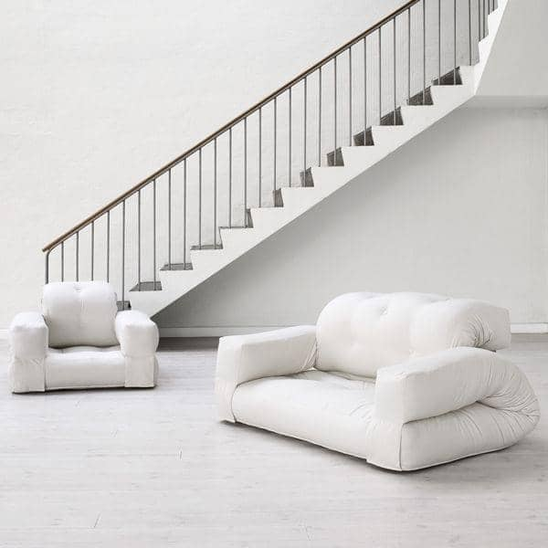 HIPPO, en lenestol eller en sofa, som blir til en komfortabel ekstra futon seng i sekunder - deco og design