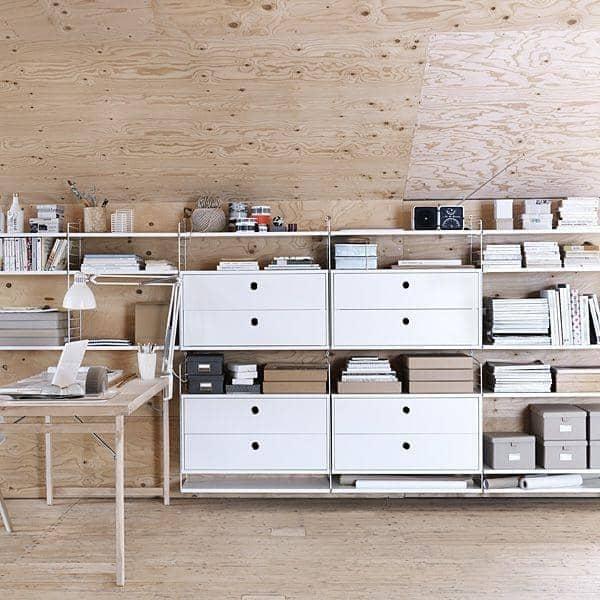 syst me de rangement modulable table de lit. Black Bedroom Furniture Sets. Home Design Ideas