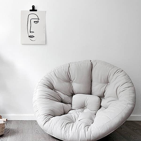 NIDO NEST, Fauteuil futon convertible pour ados : douillet, pratique, et confortable