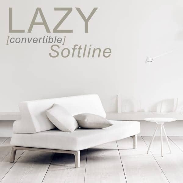 Sovesofa LAZY, konvertere sofaen til en seng i løpet av sekunder. deco og design, SOFTLINE