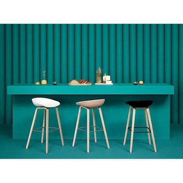 Tabouret de bar about a stool aas33 bois et tissu hay - Tabouret de bar bois et tissu ...