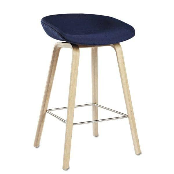 tabouret de bar about a stool aas33 bois et tissu hay. Black Bedroom Furniture Sets. Home Design Ideas