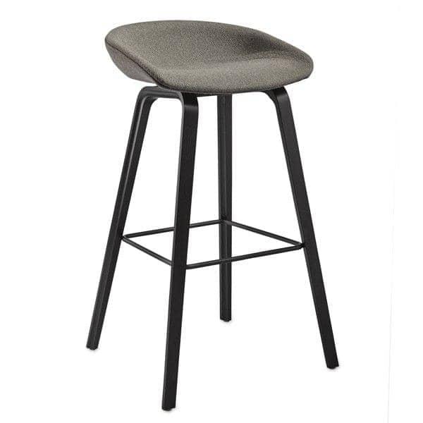 tabouret de bar about a stool aas33 bois et tissu hay. Black Bedroom Furniture Sets. Home Design Ideas