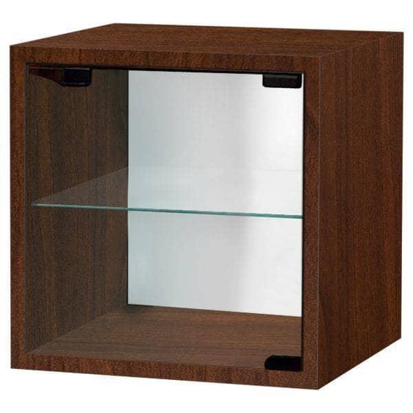 QUATTRO CUBE מדפים, לכה MDF או עץ - דרך מדף זכוכית בטיחות כלול, עם או בלי דלת - דקו ועיצוב