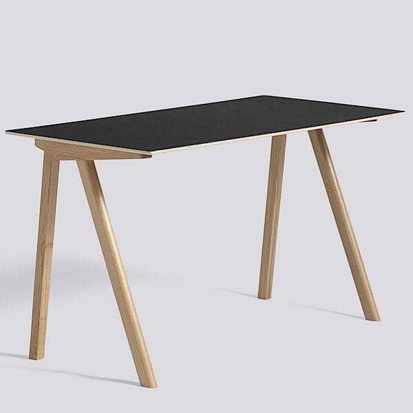 Bureau Design Bois Massif : Le bureau COPENHAGUE CPH90 en bois massif et multiplis, par Ronan et
