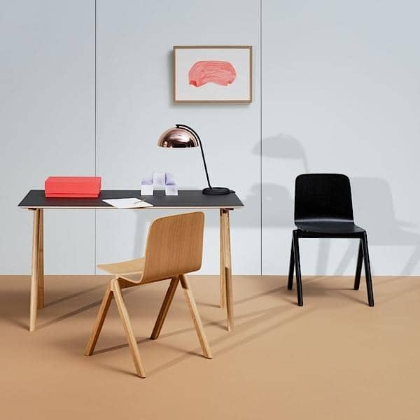 The COPENHAGUE skrivebord CPH90, laget i massivt tre and kryssfinér, RONAN AND ERWAN BOUROULLEC, HAY - deco and utforming