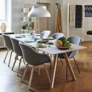 The COPENHAGUE dining table CPH30, in solid wood and plywood, by Ronan and Erwan BOUROULLEC - all dimensions, including extendable
