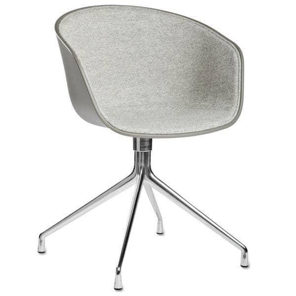 ABOUT En CHAIR -. Ref AAC20 DUO - Tilsyneladende shell polypropylen, polstret sæde, Øko-Tex Skum, valgfri pude, aluminium ben, HEE WELLING og HAY