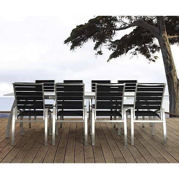 Stol, ALCEDO - EB, rustfritt stål og elastiske belter, innendørs og utendørs, laget i Europa etter TODUS - designet av JIRI SPANIHEL