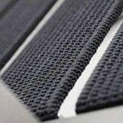 Lenestol, ALCEDO - EB, rustfritt stål og elastiske belter, trimmet armlener, innendørs og utendørs, laget i Europa av TODUS - designet av JIRI SPANIHEL