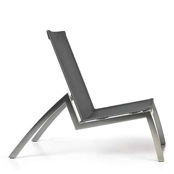Lounge stol, ALCEDO, rustfritt stål og BATYLINE, innendørs og utendørs, laget i Europa av TODUS - designet av JIRI SPANIHEL