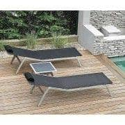 Sunlounger, ALCEDO, stainless steel and BATYLINE, indoor and outdoor, made in Europe