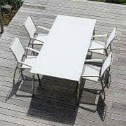 Spisebord, ALCEDO FORNIX F1 av TODUS, tidløse, robuste, rene linjer, med eller uten forlengelse: perfekt til bruk på terrassen eller i stuen din