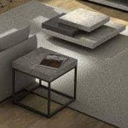 PETRA שולחן קפה ושולחן צד: היבט ופלדת בטון, בלי בטון - שעוצבה על ידי IN ES MARTINHO