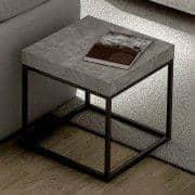 PETRA, tavolino e tavolino: aspetto cemento e acciaio, senza cemento - progettata da IN ES MARTINHO