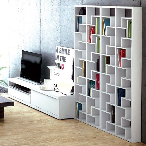 ivy etag re pour cd dvd ou biblioth que de livres graphique sobre designer ricardo mar al. Black Bedroom Furniture Sets. Home Design Ideas