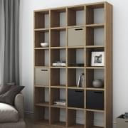 POMBAL 2010-001, 24 compartimentos de prateleira, soluções de armazenamento, prateleiras, biblioteca: a faixa que pensa grande! desenhado por TEMAHOME