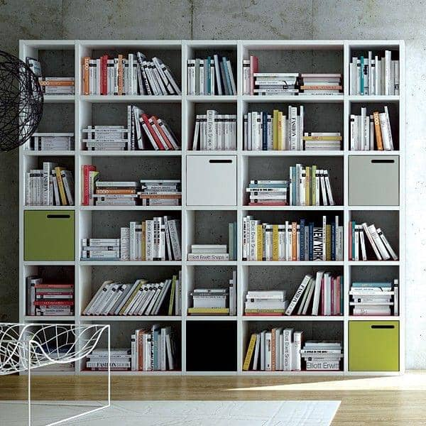 POMBAL 2012-055, 30 compartments shelf, storage solutions, shelving, library: the range that thinks big !