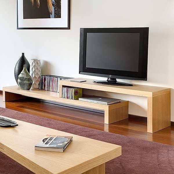 CLIFF, 120 + 120 la modularité est toujours un atout. Ce meuble TV saura s'adapter à votre espace ! - designer : JOHN JENKINS