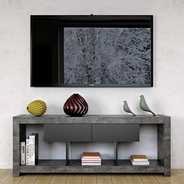 nara meuble tv qui trouvera sa place adoss un mur ou. Black Bedroom Furniture Sets. Home Design Ideas
