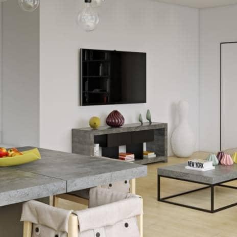 Nara tv bord som finner sin plass mot en vegg eller i midten av stuen ogsa tilgjengelig i betong aspekt designet av temahome.jpg