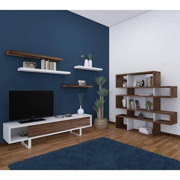 SLIDE, meuble tv ou buffet bas, un pied métal tout en légèreté, portes coulis -> Meuble Tv Pied Metal