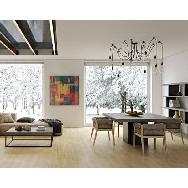 Dusk firkantet spisebord 130 eller 150 cm nesten en skulptur designet av delio vicente.jpg
