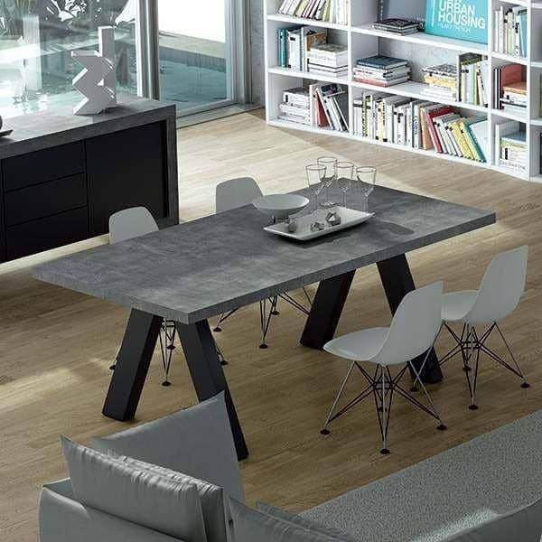 APEX, table de salon compacte ou extensible : aspect béton ou ...