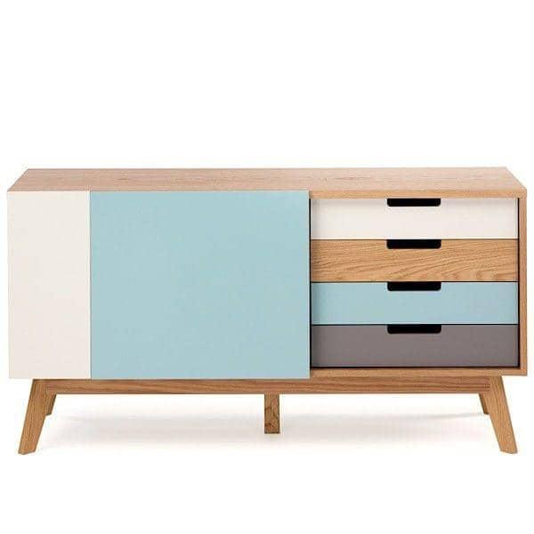 CHASER餐具柜,结构实心橡木,4个抽屉,2门,清新,和谐的色彩-创建者莱昂哈德普法伊费尔-装饰与设计