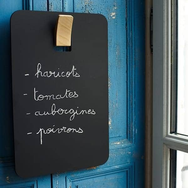 L'ARDOISE, peg and blackboard, MDF and solid beech, eco-design
