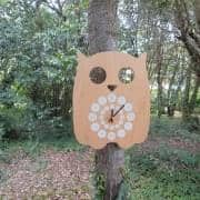 HIBOO ، ساعة تعليمية، والزان والخشب الرقائقي، والتصميم الإيكولوجي