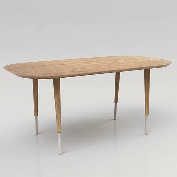 HEPBURN 、ダイニングテーブル、オーク無垢材、エコデザイン