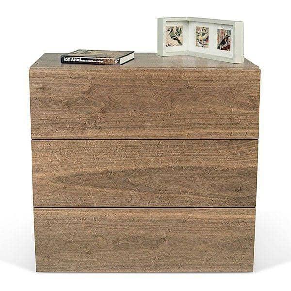 AURORA, cassettiera 3 cassetti, generosa e di design, disponibile in diverse finiture