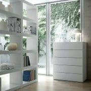 AURORA, chest 5 drawers, generous and design, available in different finishes