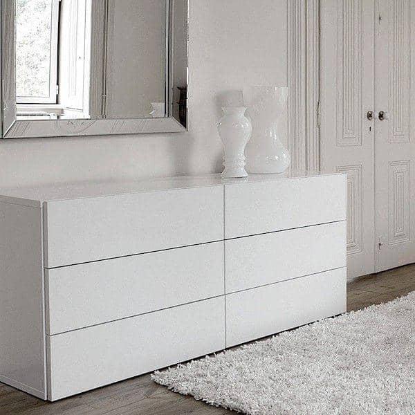 AURORA, caixa de 6 gavetas, generosa e design, disponível em diferentes acabamentos