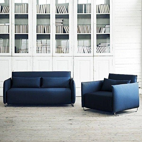 CORD, en sovesofa, en cabriolet lenestol: tilpasset små mellomrom, eksemplarisk komfort, av Softline