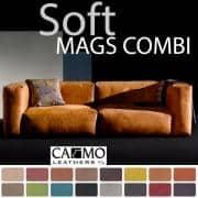 MAGS SOFA SOFT 、モジュラーコンビネーション、レザー、 HAY