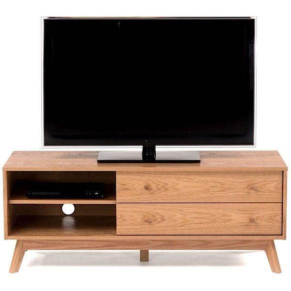 KENSAY τηλεόραση μονάδα, 130 x 45 x 50 cm, γίνεται σε δρύινα, 2 συρτάρια, ρυθμιζόμενο ράφι - Δημιουργήθηκε από Leonhard Pfeifer - διακόσμηση και ο σχεδιασμός