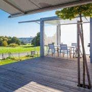 PURO spisebord eller salongbord, HPL versjon av TODUS, godt utvalg av dimensjoner, robuste, rene linjer: perfekt for bruk på terrassen eller i stua